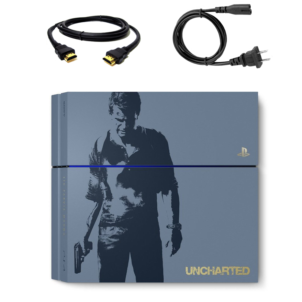 Sony PlayStation 4 - Limited Edition Uncharted 4 - game console - 500 GB HDD - gray blue - Uncharted 4: A Thief's End - Available May 10, 2016 - 3001068