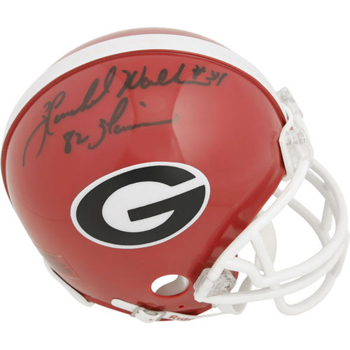 "NCAA - Herschel Walker Georgia Bulldogs Autographed Mini Helmet with Inscription ""82 Heisman"""
