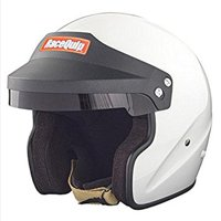RaceQuip 253115 Gloss White Large OF15 Open Face Helmet (Snell SA-2015 Rated)