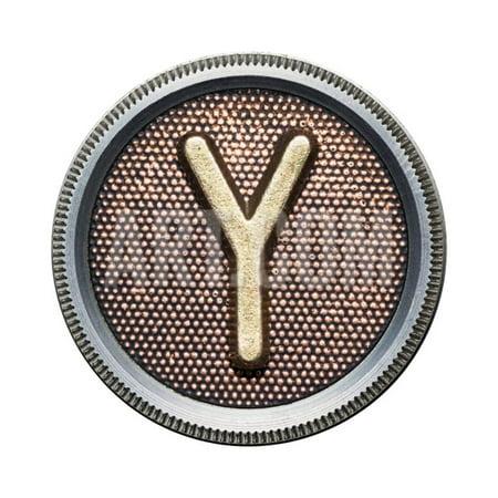 Metal Button Alphabet Letter Print Wall Art By donatas1205](Button Art)