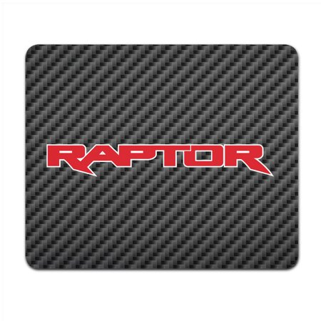 Ford F-150 Raptor 2017 in Red Black Carbon Fiber Texture Graphic PC Mouse -