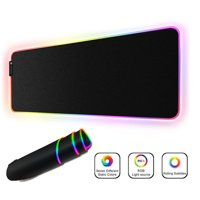RGB Gaming Mouse Pad Large, Oversized LED Glowing Mice Pad Thick Extended Non-Slip Rubber Base Keyboard Mat Optimized for Gaming Sensors, Water-Resistant 9 Lighting Mode, XXL