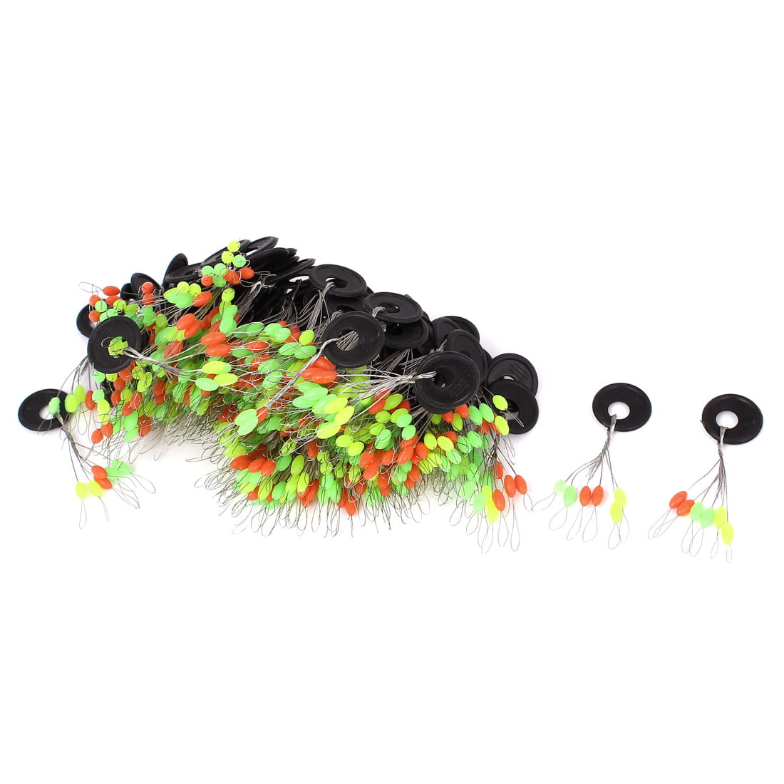 Unique Bargains 6 in 1 Multicolor Fishing Floaters Bobbers 5mm Long 100 Pcs by