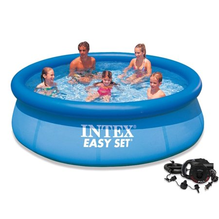 Intex 10 39 X 30 Easy Set Above Ground Swimming Pool With Quick Fill Ac Air Pump