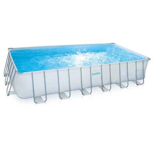 "Summer Waves Elite 24' x 12' x 52"" Rectangular Premium Frame Above Ground Swimming... by"