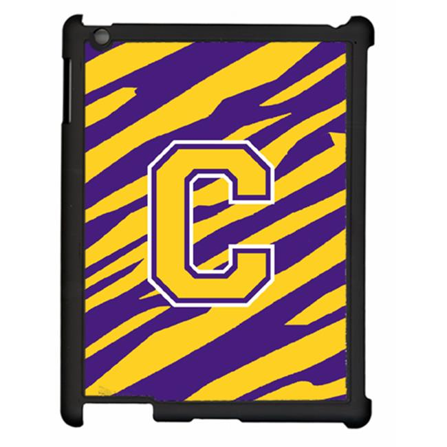 Carolines Treasures CJ1022-C-IPADC Tiger Stripe - Purple Gold Letter C Initial Ipad 2 Ipad 3 Snap On Artcase