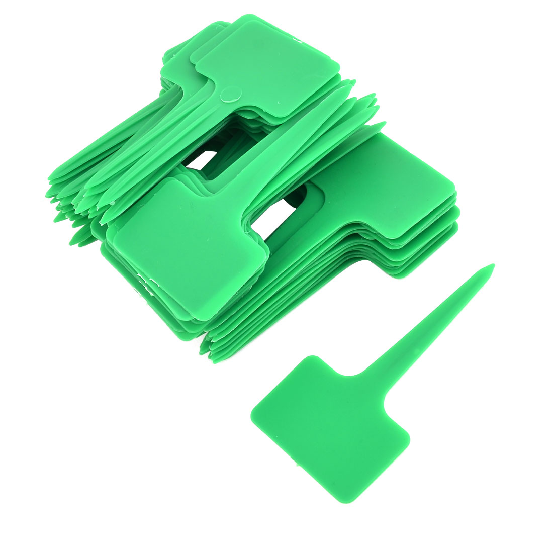 Outdoor Garden Plastic T Shaped Plant Seed Tag Label Marker Sign Green 100pcs