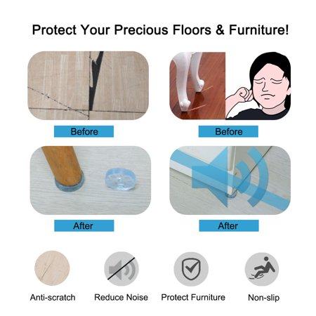 Round Rubber Feet Non Slip Leg Pad Anti-scratch Floor Protector for Sofa 30mm - image 5 de 7