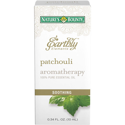Nature's Bounty Earthly Elements Aromatherapy Patchouli 100% Pure Essential Oil, 0.34 fl oz