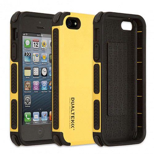 PUREGEAR YELLOW DUALTEK EXTREME RUGGED CASE COVER FOR APPLE iPHONE SE 5 5s