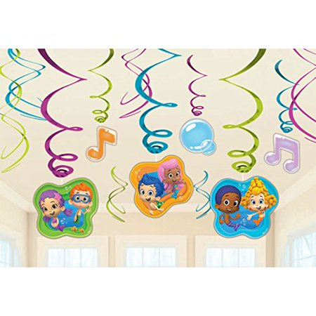 Bubble Guppies Foil Swirl Hanging Decorations (Each) - Bubble Guppies Halloween Costume Gil