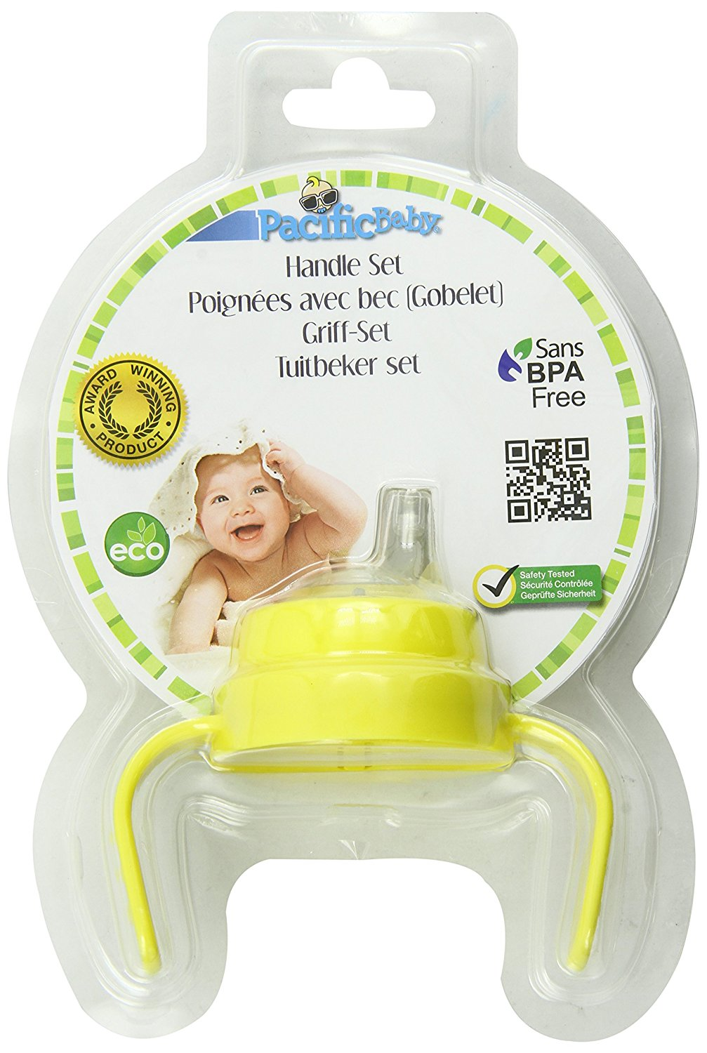 Baby Bottle Handle Set, Yellow By Pacific Baby by Pacific Baby