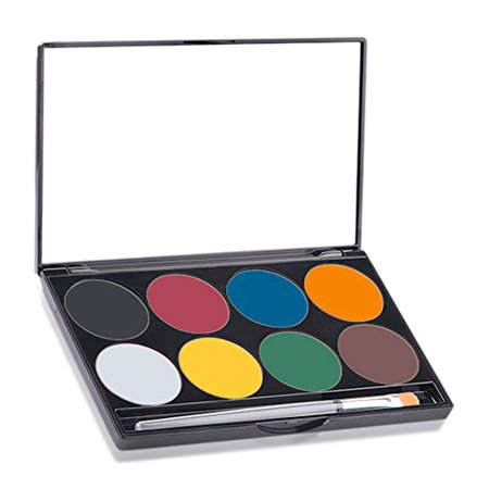 LWS LA Wholesale Store  Mehron Makeup Paradise AQ Face & Body Paint 8 Color Palette (Basic) - Mehron Paradise