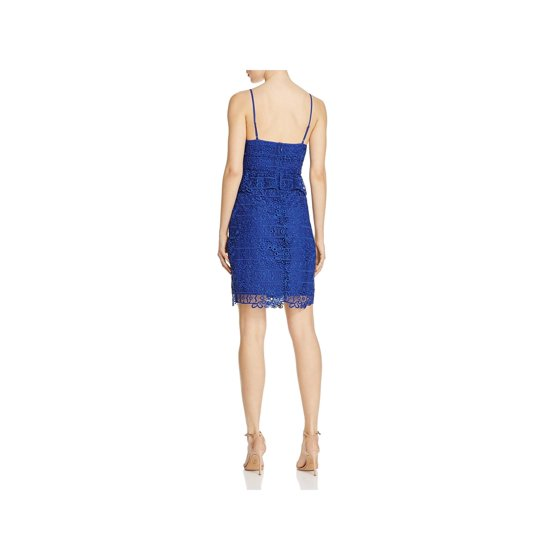 3ea5c96848f GUESS - Guess Womens Solstice Lace Peplum Bodycon Dress - Walmart.com
