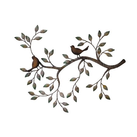 HGC Branches with Birds Decorative Metal Wall Sculpture](Metal Bird Wall Decor)