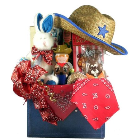 Gift Basket Drop Shipping YeHa-Lg YeeHaw, Cowboy Themed Easter Basket
