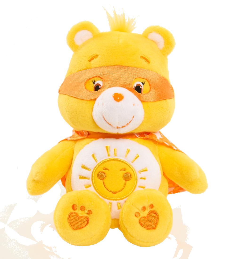 Care Bears Bean Plush- Superhero Funshine Bear