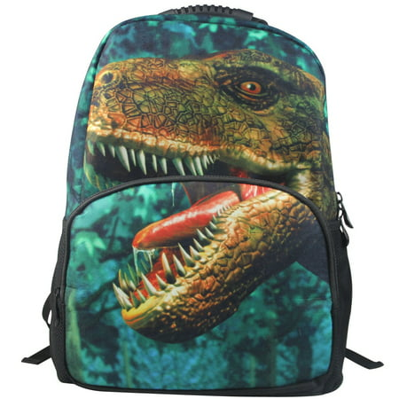 Dinosaur Backpack 3D Deep Stereographic Animal Face on Felt Fabric