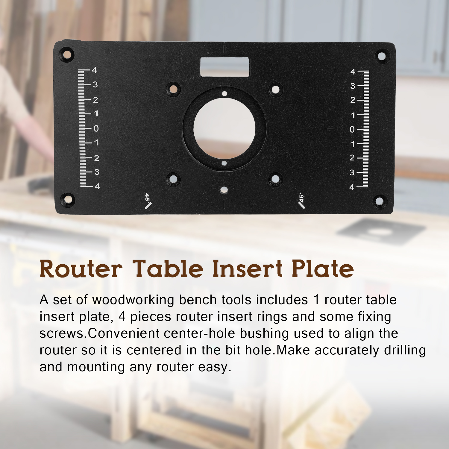 Multifunctional Router Table Insert Plate Woodworking Benches Aluminium Wood Router Trimmer Models Engraving Machine With 4 Rings Tools Walmart Com Walmart Com