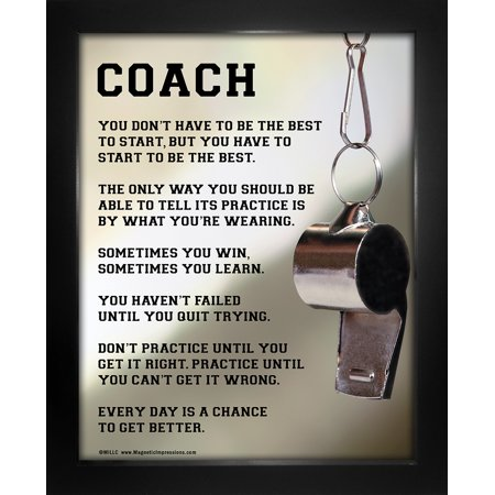 Framed Coach Motivational 8