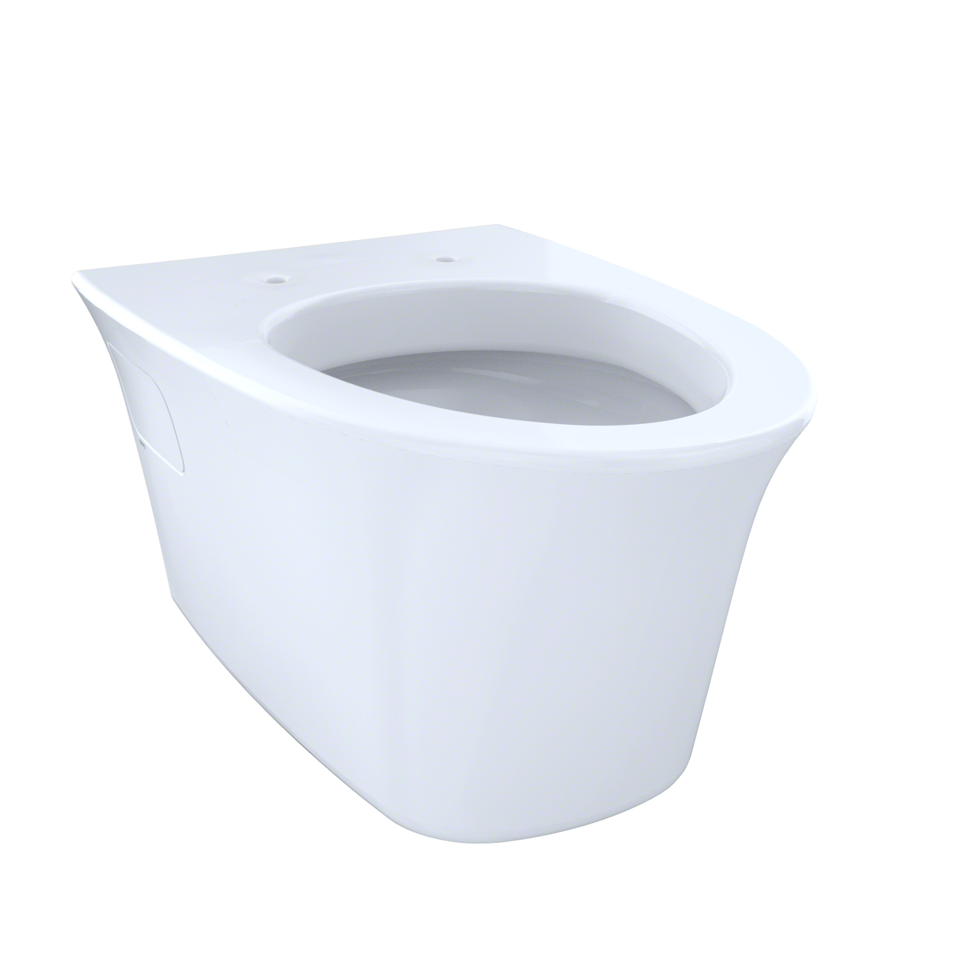 TOTO® Maris® Wall-Hung Elongated Toilet Bowl with Skirted Design and CeFiONtect™, Cotton White - CT486FG#01