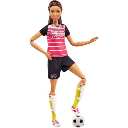 - Barbie Made To Move Soccer Player Doll Ultra Flexibility & Soccer Ball