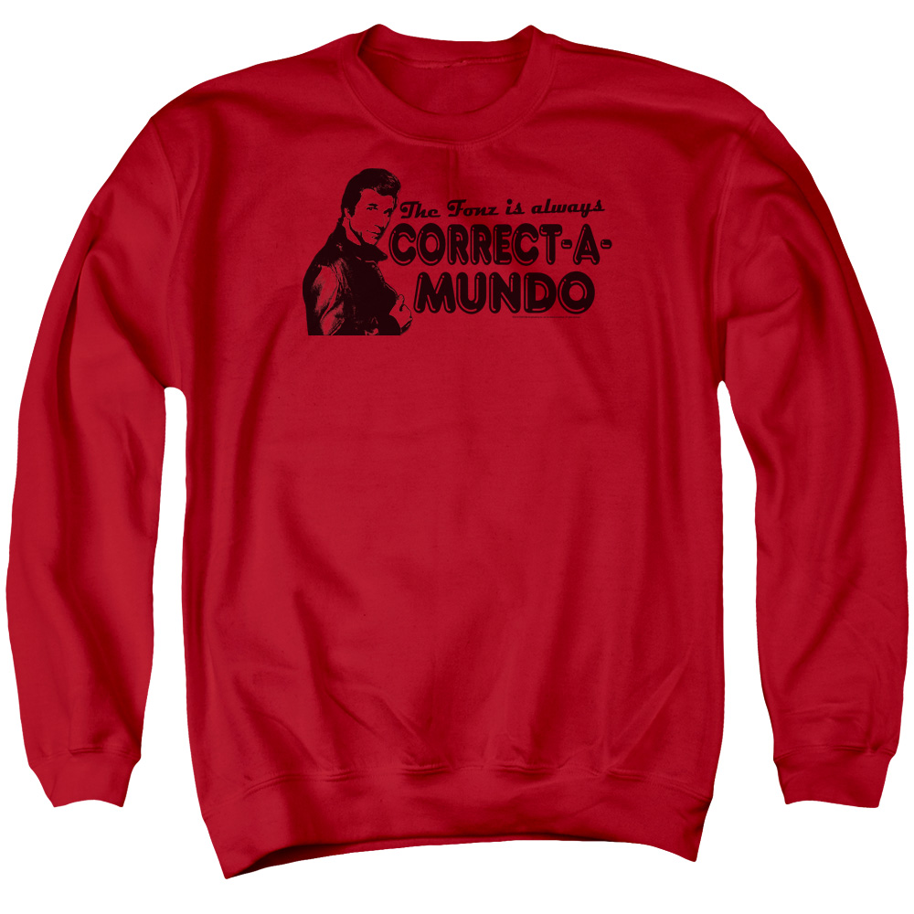 Happy Days Correct A Mundo Mens Crewneck Sweatshirt