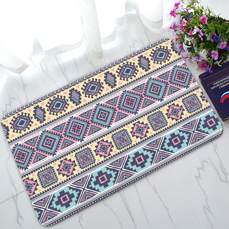 PHFZK Geometric Aztec Pattern Doormat, Tribal Ethnic Indian Doormat Outdoors/Indoor Doormat Home Floor Mats Rugs Size 30x18 inches (Indian Tribal)