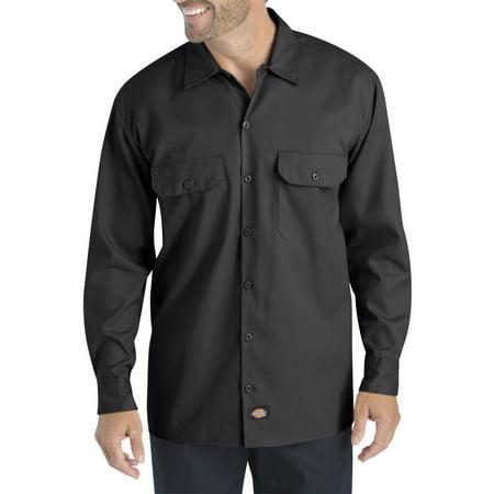 Dixie Tee Shirts - Dickies Big Men's Long Sleeve Flex Twill Shirt