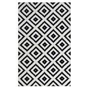Modway Alika Abstract Diamond Trellis 8x10 Area Rug In Black And White