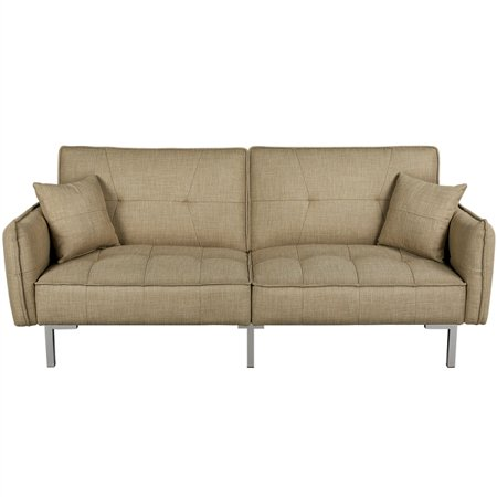 Easyfashion Modern Sofa Bed, Khaki Now $219.99