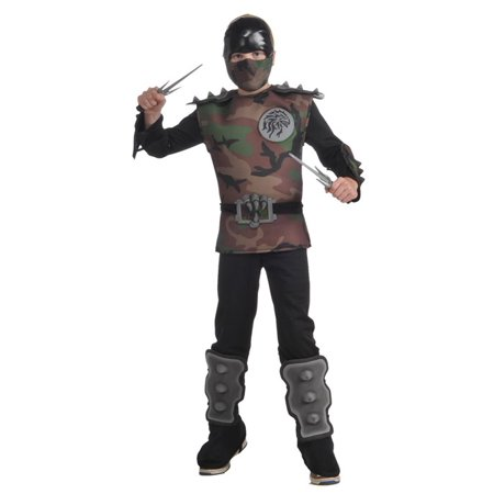Jungle Camouflage Ninja Jumpsuit Costume Child - 30s Costumes