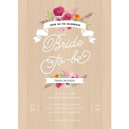 Rustic shower standard bridal shower invitation walmartcom for Walmart wedding shower invitations