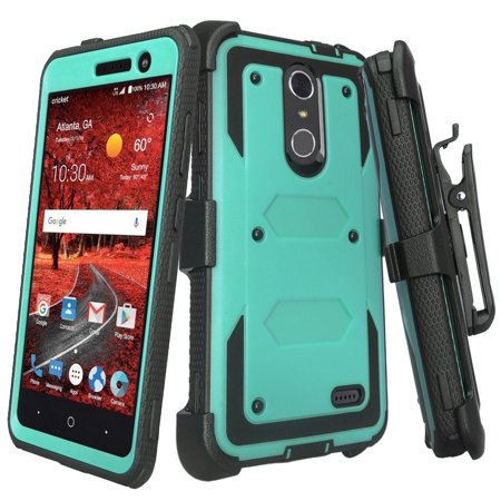 new styles 0d592 3dea3 ZTE Grand X 4, ZTE Blade Spark Z971 Case, Rugged Full-Body Armor[Built-in  Screen Protector] Heavy Duty Holster Shell Combo Case for ZTE Grand X4 - ...