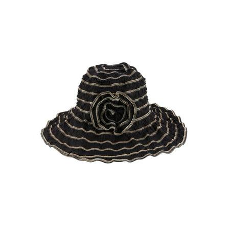 Sun Styles Sophie Ladies Bowler Style Ruffled Sun Hat - Walter White Hat Halloween