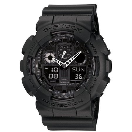 Casio Mens G Shock Ga100 1A1 Black Resin Quartz Watch