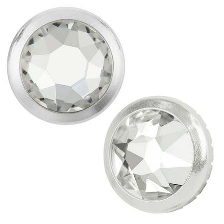 Swarovski Crystal, Hotfix Framed Round Flatback Rhinestone 7.8mm, 4 Pieces, Crystal / - Metal Frame Rhinestones