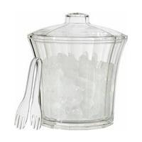 Creative Ware Insulated Acrylic Ice Bucket and Tongs