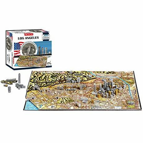 4d cityscape los angeles time puzzle 800 piece for Meuble angele circulaire