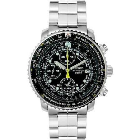 Seiko Mens SNA411 Stainless Steel Quartz Watch by