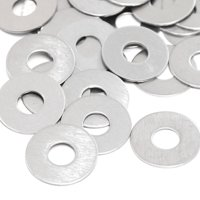 """Red Hound Auto 50 Flat Fender Washers Set Fits 1/2"""" .531 Inch ID Hole Size, 1.5 Inch OD for 304 SS Stainless Steel Corrosion Resistant"""