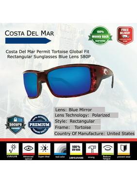 80e1da3a1ff52 Product Image Permit Tortoise Rectangular Sunglasses Blue Lens 580G. Costa  Del Mar