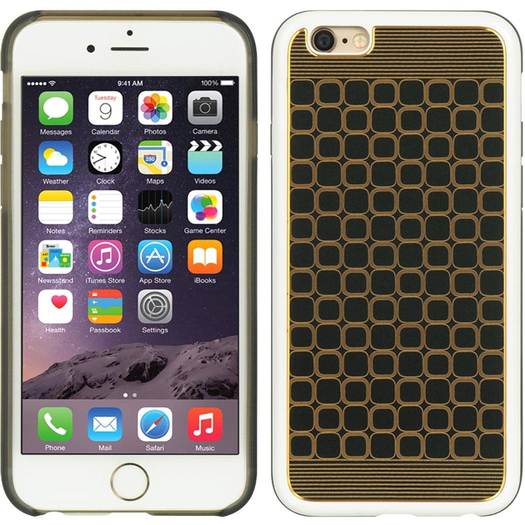 Apple Iphone 6 Fusion Case Lattice White Black