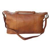 Large Leather Satchel Bag w Removable Strap in Saddle