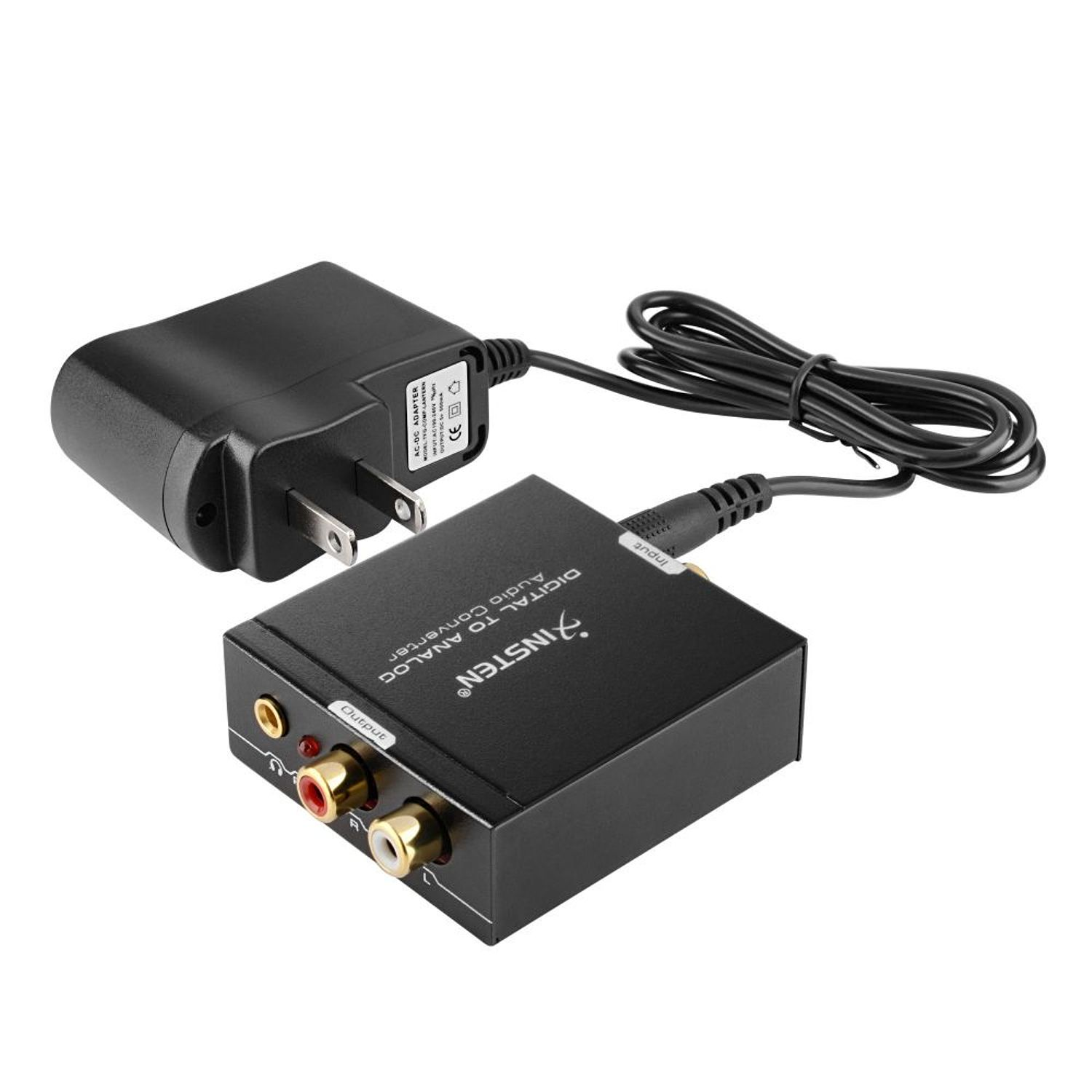 Insten Optical Coax Coaxial Toslink Digital to Analog Audio Converter Adapter RCA L/R 3.5mm