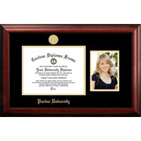 Purdue University 11w x 8.5h Gold Embossed Diploma Frame with 5 x7 Portrait