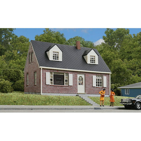 Walthers cornerstone ho scale building structure kit brick for Brick kit homes