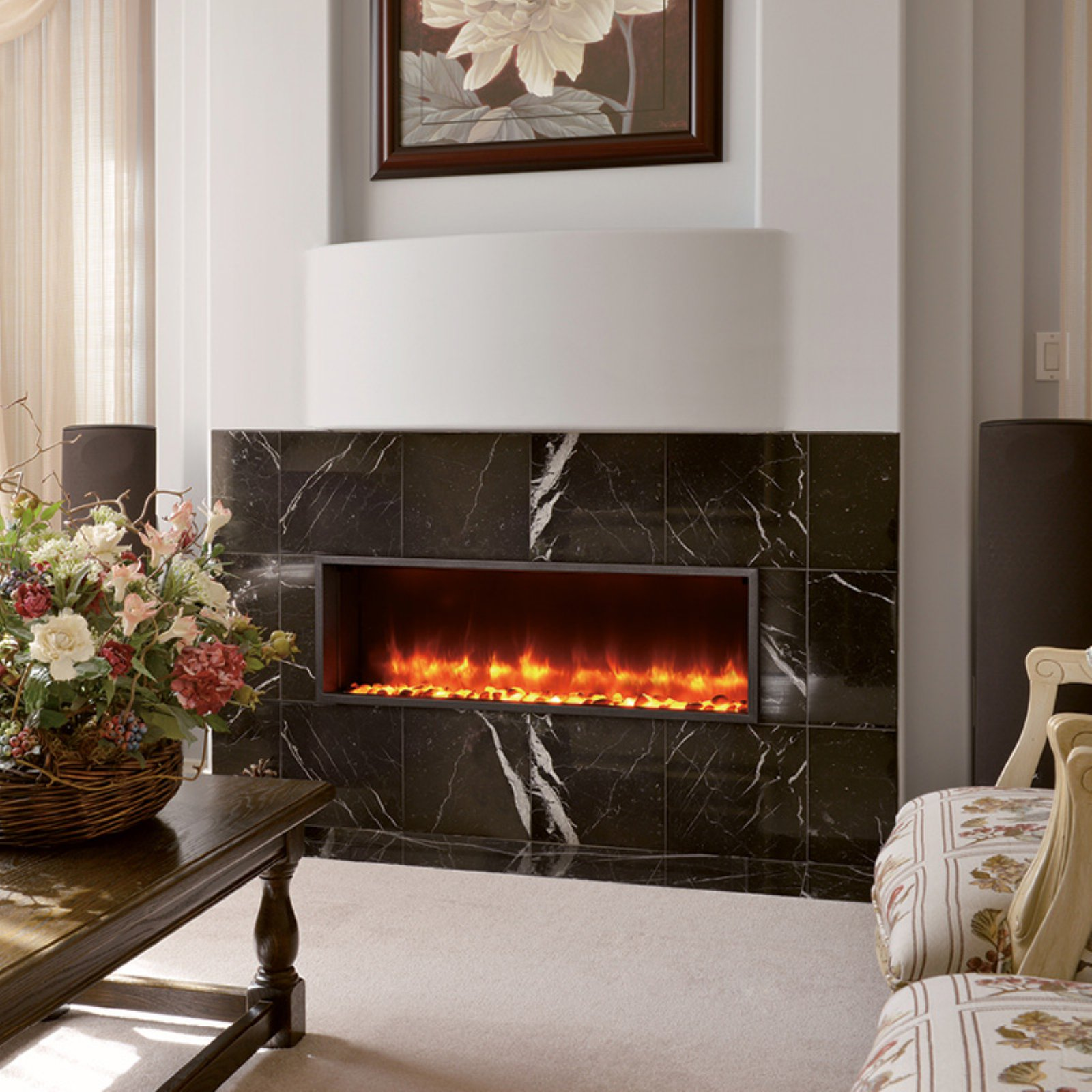 dynasty built in electric led fireplace walmart com