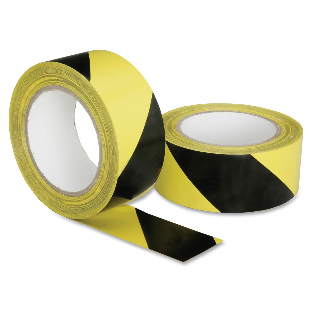 "Skilcraft Hvy-duty Poly Floor Safety Marking Tape - 2"" Width X 36 Yd Length - 3"" Core - Plastic, Vinyl - Flexible, Biodegradeable, Adhesive, Pressure Sensitive, Heavy Duty - 16 Roll - (nsn-6174251)"