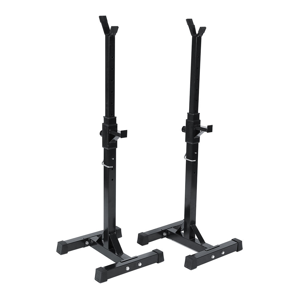 Barbell Rack 2PCS Gym Family Fitness Adjustable Squat Rack Independent Weight Lifting Bench Press Stand by ZJchao01